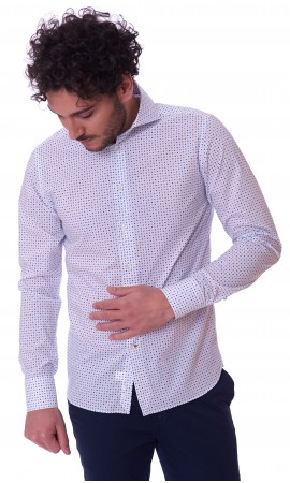 Camicia Trussardi a quadretti uomo regular fit blu 52C00111