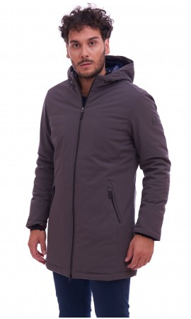 INVICTA LONG TECHNICAL JACKET WITH HOOD GREY