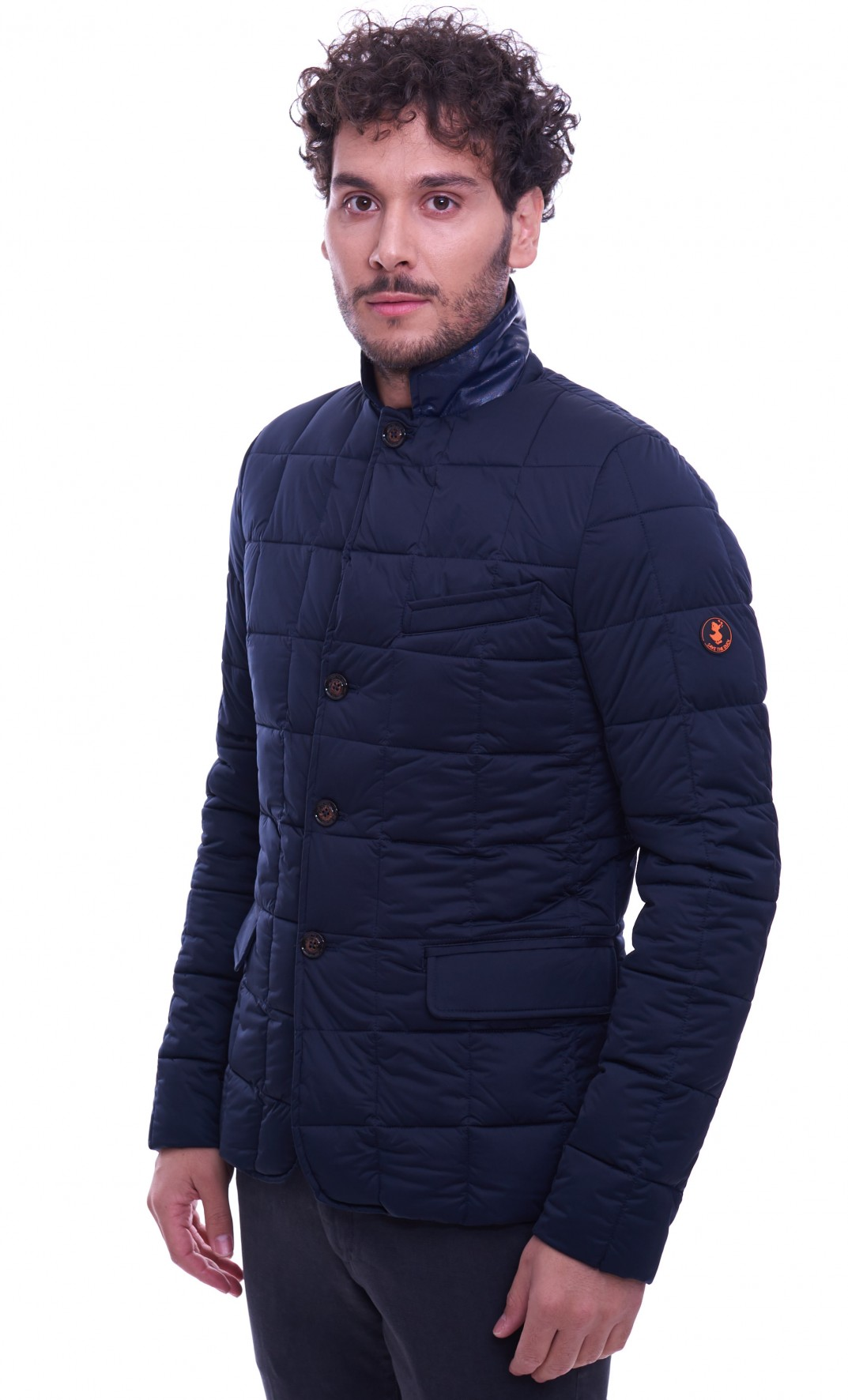 Giubbotto SAVE THE DUCK stretch da uomo modello giacca blu D3081M 8b34fbae369