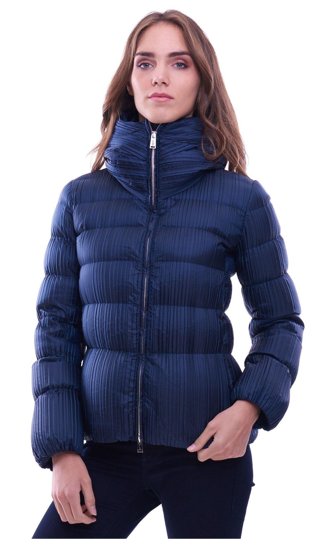 600205910fb3 Women s short plisse down jacket ADD blue KAWC87
