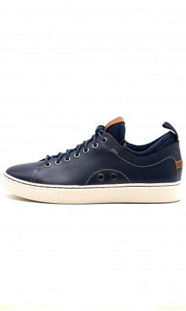 SNEAKERS POLO RALPH LAUREN DUNOVIN BLUE LEATHER