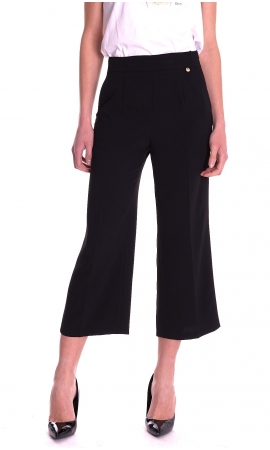 PANTALONE LUCKYLU CROPPED AMPIO IN CADY