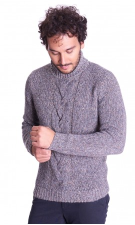 TURTLENECK WOVEN SWEATER BROWN'S