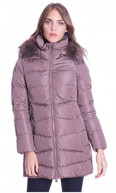 LONG DOWN JACKET ADD WITH HOOD AND FUR