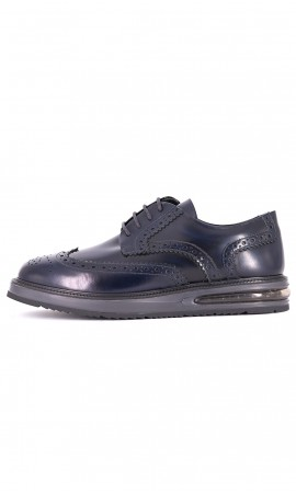 AIR BROUGE LEATHER SHOES BARLEYCORN BLUE