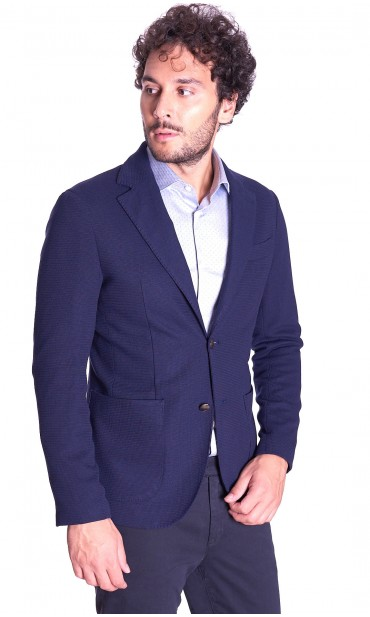 WOVEN JACKET WE ARE HERE BLUE