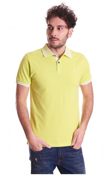 POLO SAVE THE DUCK SLIM FIT WITH LOGO