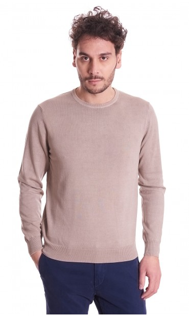 ROUNDNECK SWEATER BROWN'S PURE LIGHT COTTON