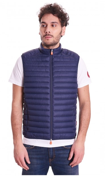 SAVE THE DUCK SHORT BLUE GILET