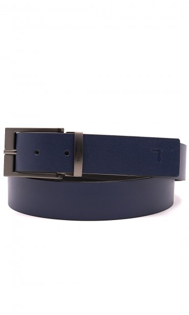 TRUSSARDI JEANS LEATHER BELT WITH LOGO