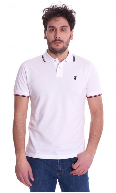 POLO SAVE THE DUCK SLIM FIT WITH EMBROIDERED LOGO