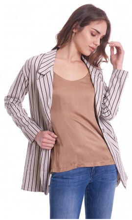 STRIPED DIXIE JACKET OVER FIT