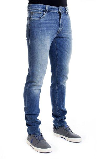 Jeans uomo strappati Denim Smile pantaloni slim elasticizzato vita bassa 3124